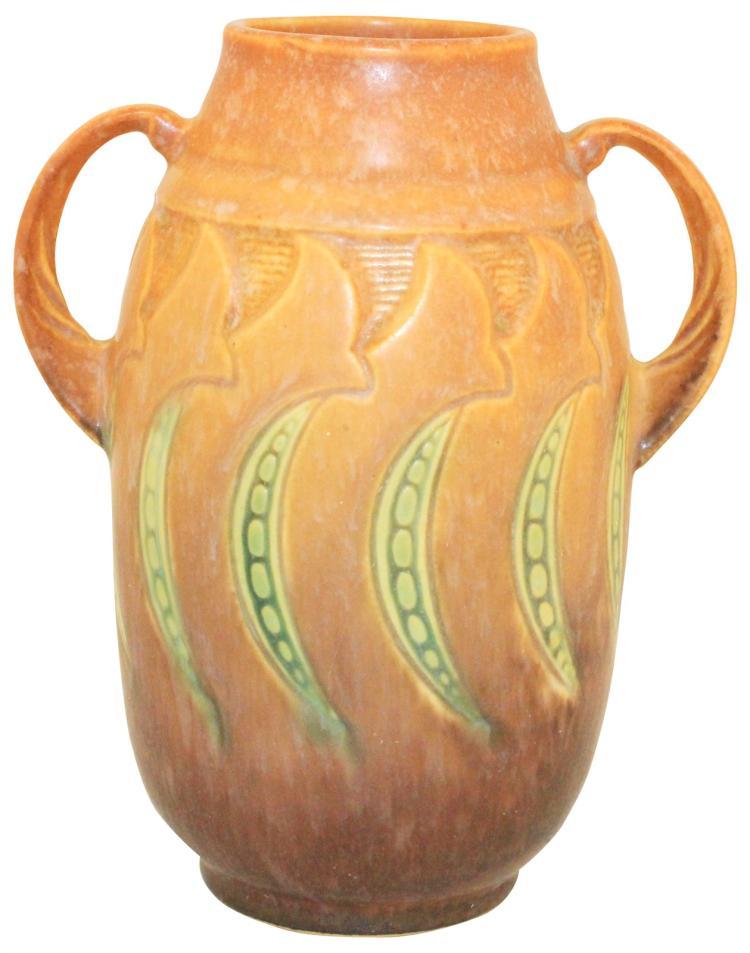 Roseville Pottery Falline Brown Vase 643-6