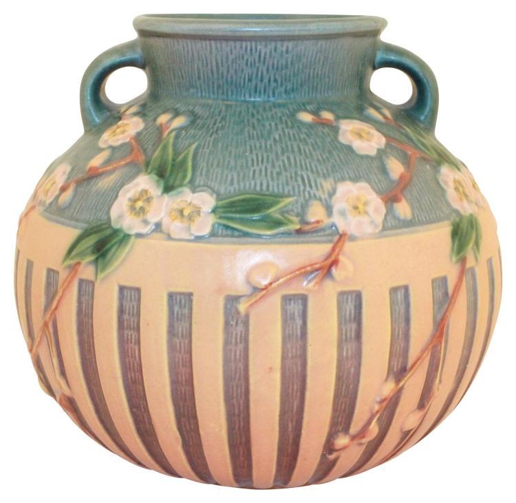 Roseville Pottery Cherry Blossom Pink Vase 625-8