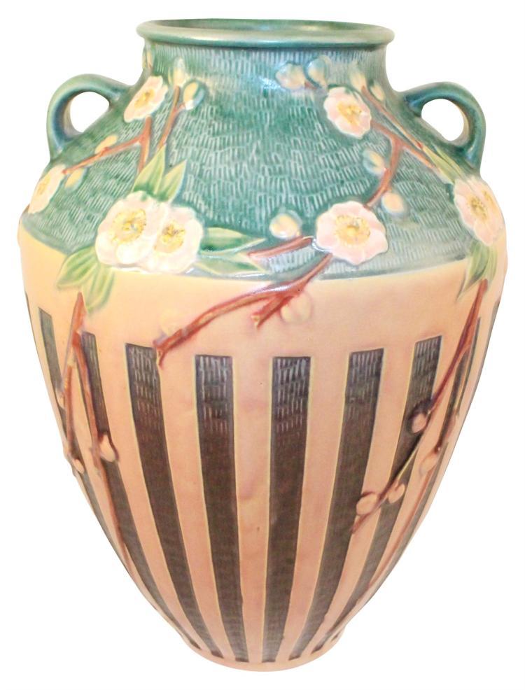 Roseville Pottery Cherry Blossom Pink Floor Vase 628-15