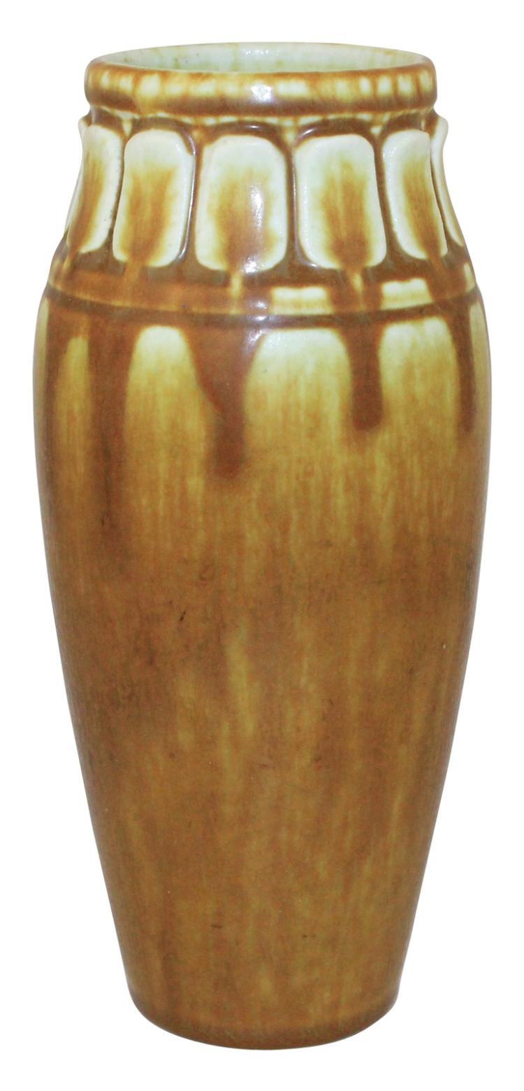 Rookwood Pottery 1926 Caramel Brown Vase Shape 2327