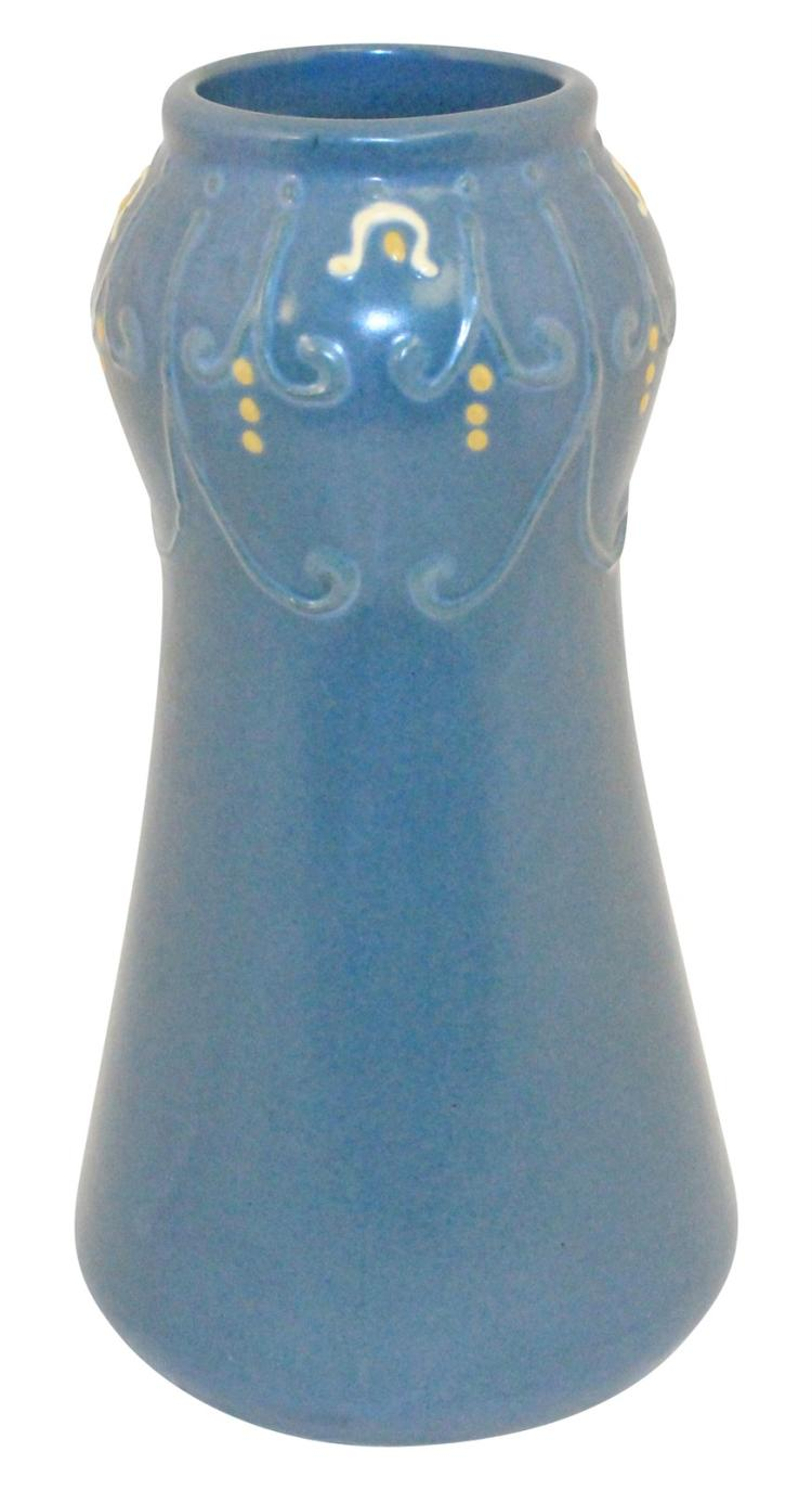 Roseville Pottery Aztec Blue Vase Shape 24