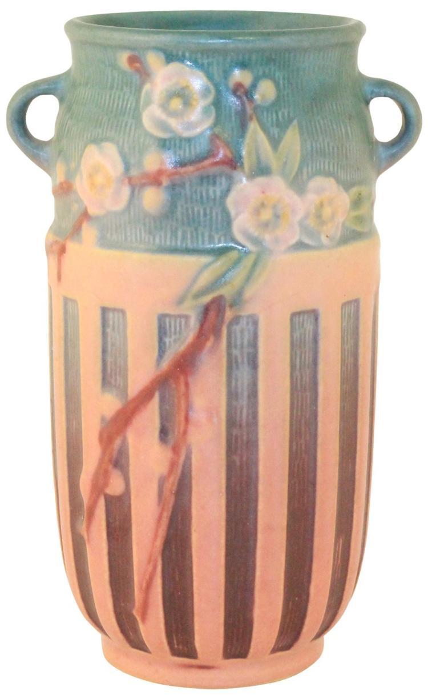 Roseville Pottery Cherry Blossom Pink Vase 620-7
