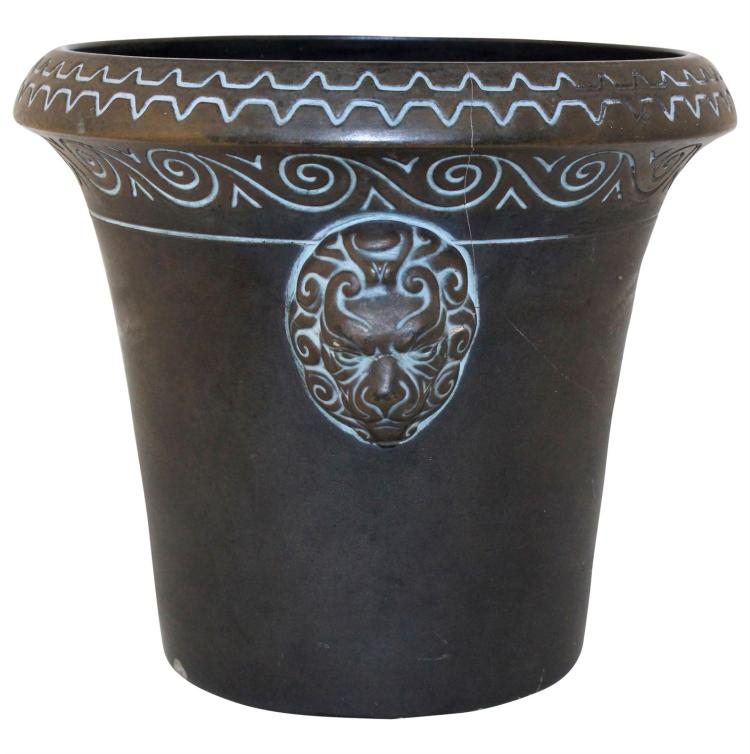 Norse Pottery Lion Head Large Jardiniere 114