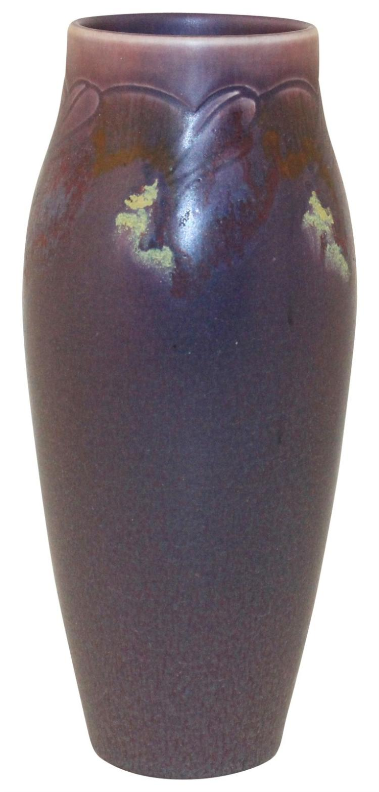 Rookwood Pottery 1919 Floral Vellum Purple Vase 30E (Todd)
