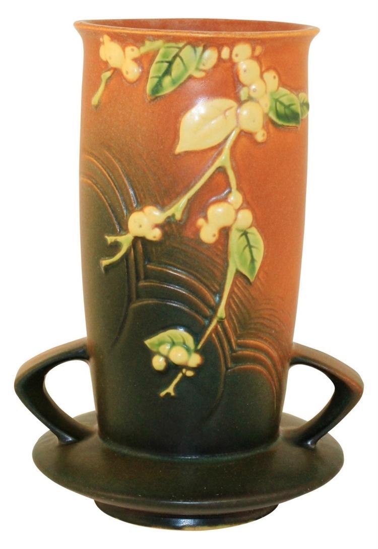 Roseville Pottery Snowberry Trial Glaze Vase 1V1-8