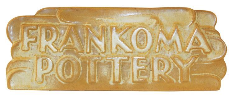 Frankoma Pottery Early 1950s Desert Gold Dealer Sign DS-3