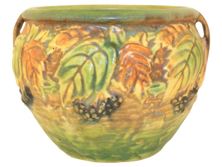 Roseville Pottery Blackberry Jardiniere 623-4