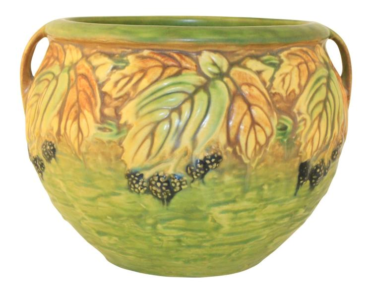 Roseville Pottery Blackberry Jardiniere 623-7