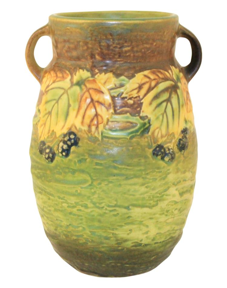 Roseville Pottery Blackberry Vase 576-8