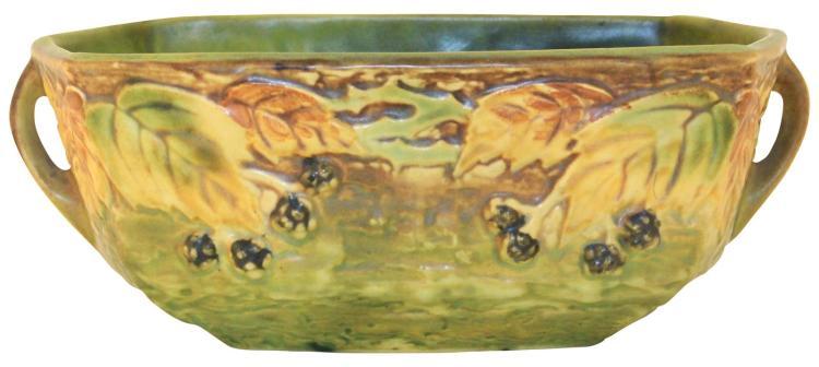 Roseville Pottery Blackberry Console Bowl 227-8