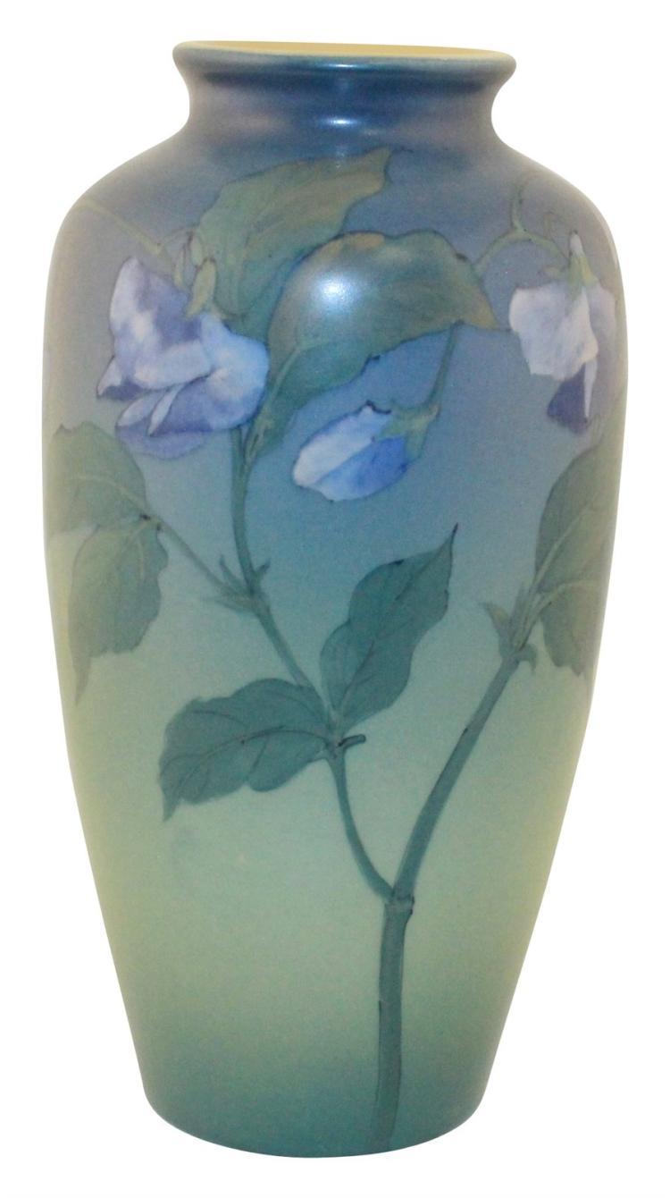 Rookwood Pottery 1920 Vellum Glaze Sweet Pea Vase (Diers)