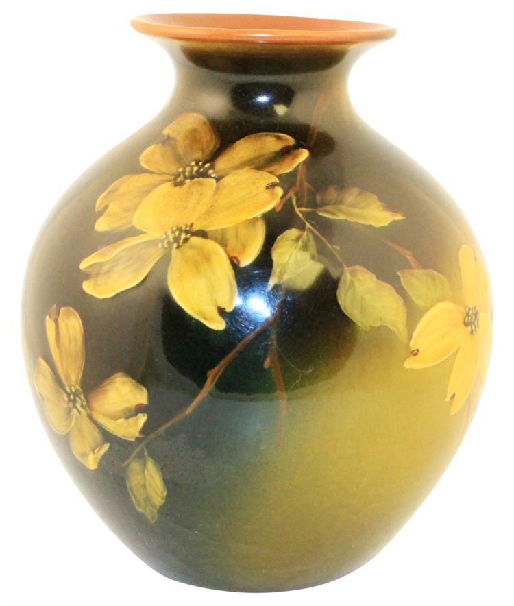 Rookwood Pottery 1894 Standard Glaze Floral Vase 695 (Baker)
