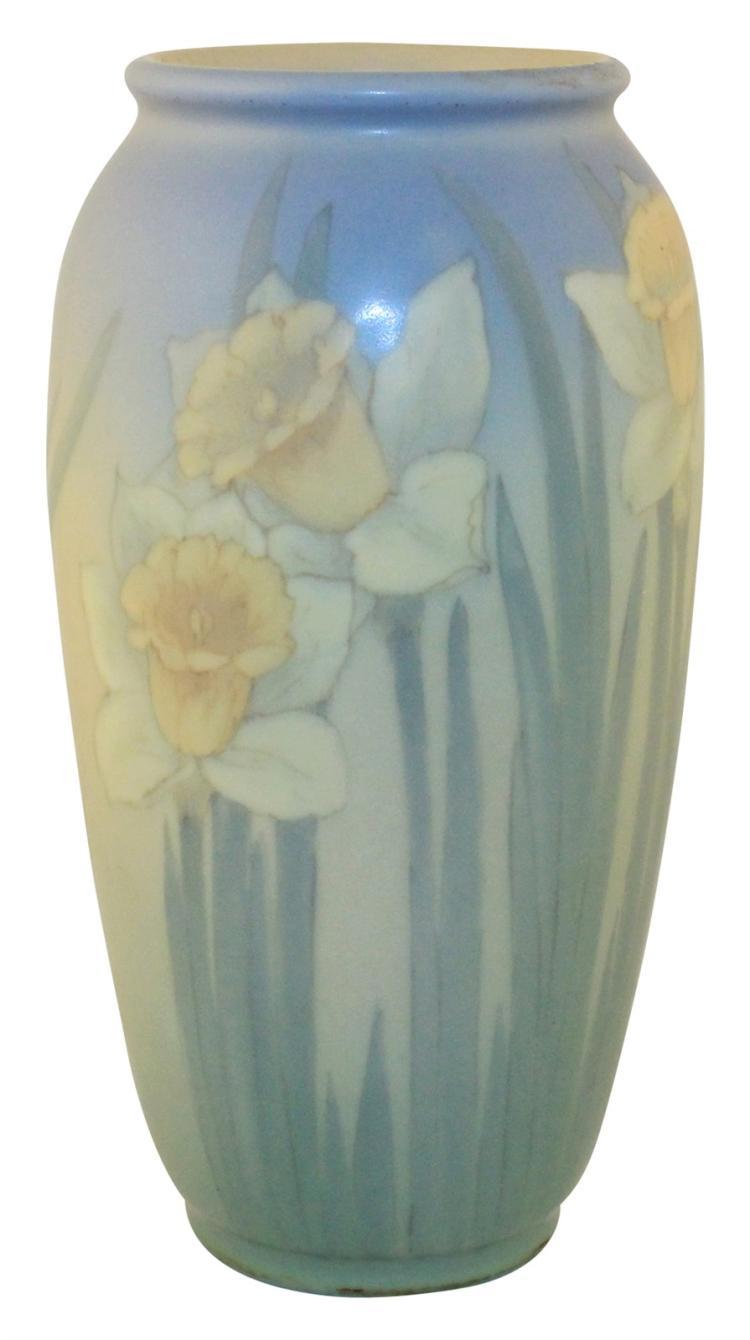 Rookwood Pottery 1931 Vellum Daffodil Vase 892C (Diers)