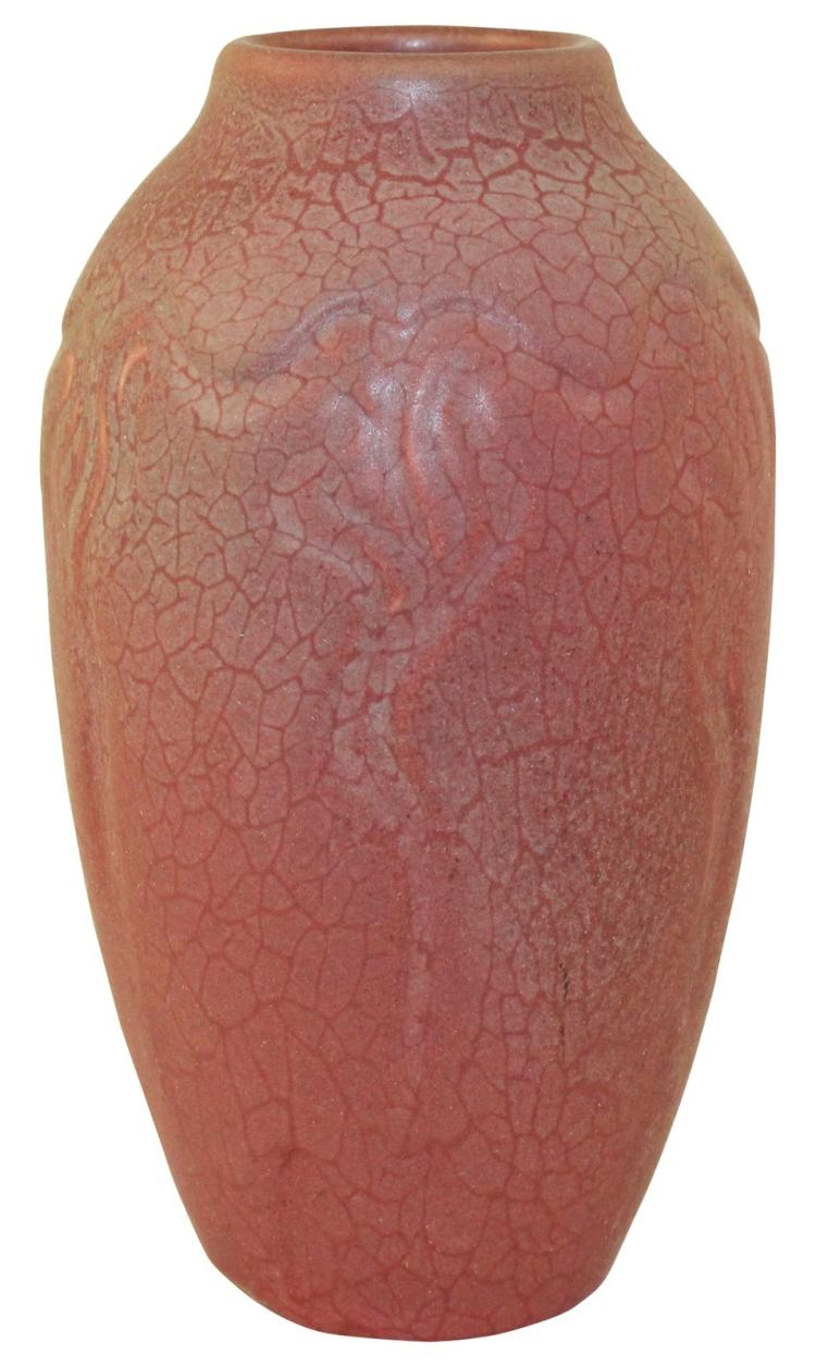 Rookwood Pottery 1905 Carved Matte Glaze Arts and Crafts Vase 900D