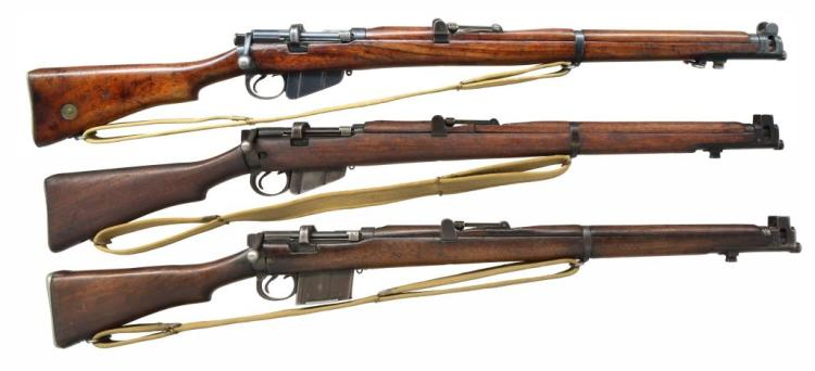 Sold Price: 3 BOLT ACTION LEE ENFIELD TYPE RIFLES