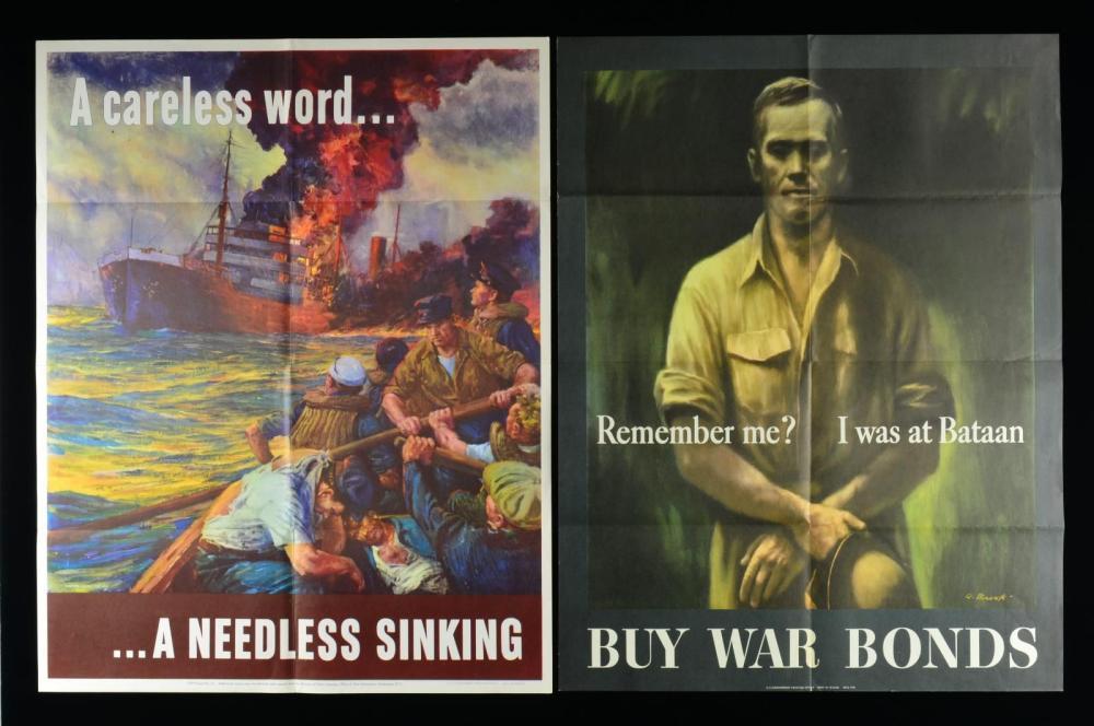 GROUP OF 5 WWII AMERICAN PATRIOTIC WAR EFFORT