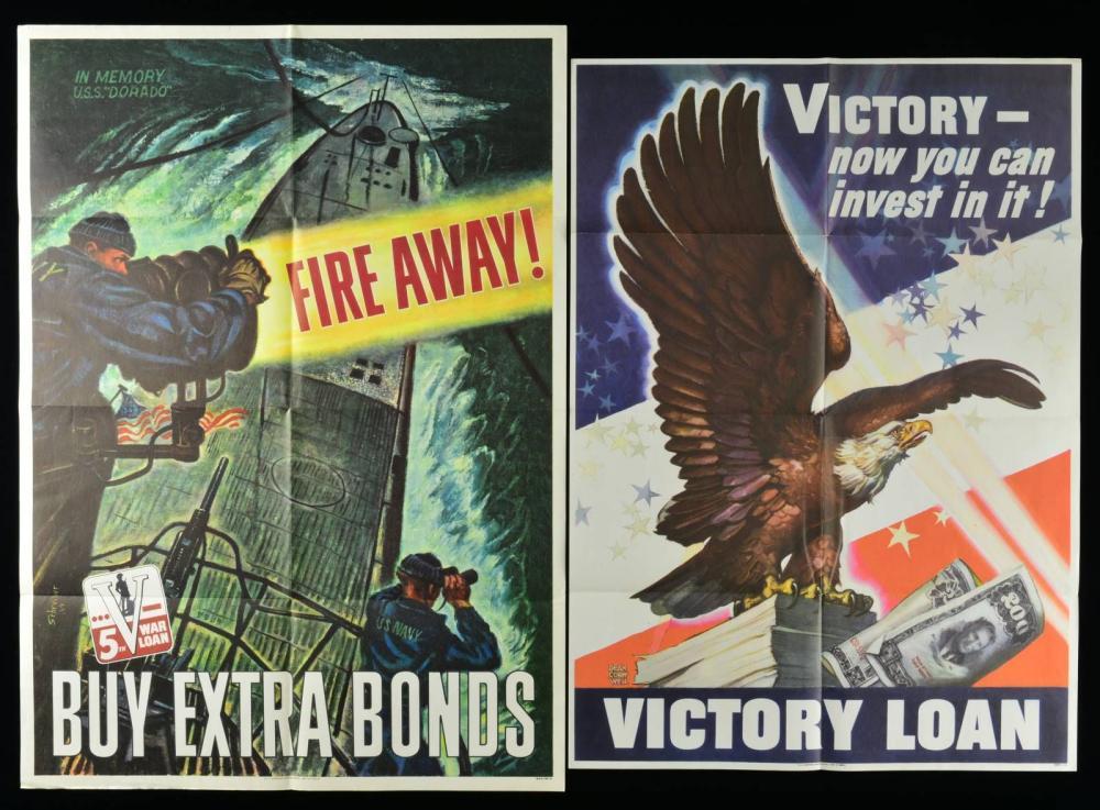 GROUP OF 6 WWII AMERICAN PATRIOTIC WAR EFFORT