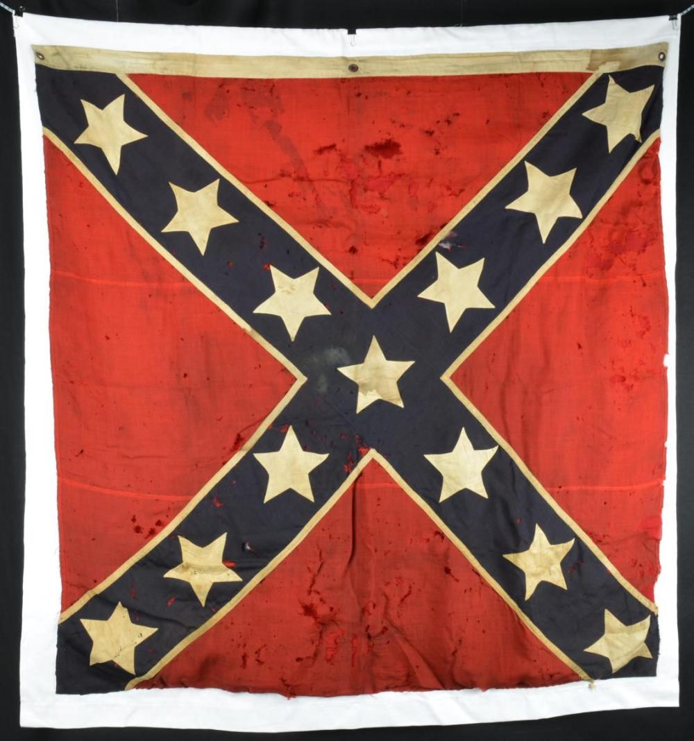 19TH CENTURY REUNION BATTLEFLAG MADE BY WIFE OF