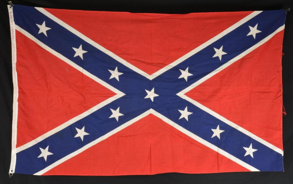 CONFEDERATE BATTLE FLAG THAT WENT TO THE