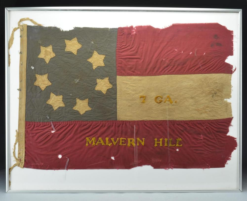 COMMEMORATIVE CONFEDERATE FIRST NATIONAL FLAG, 7TH