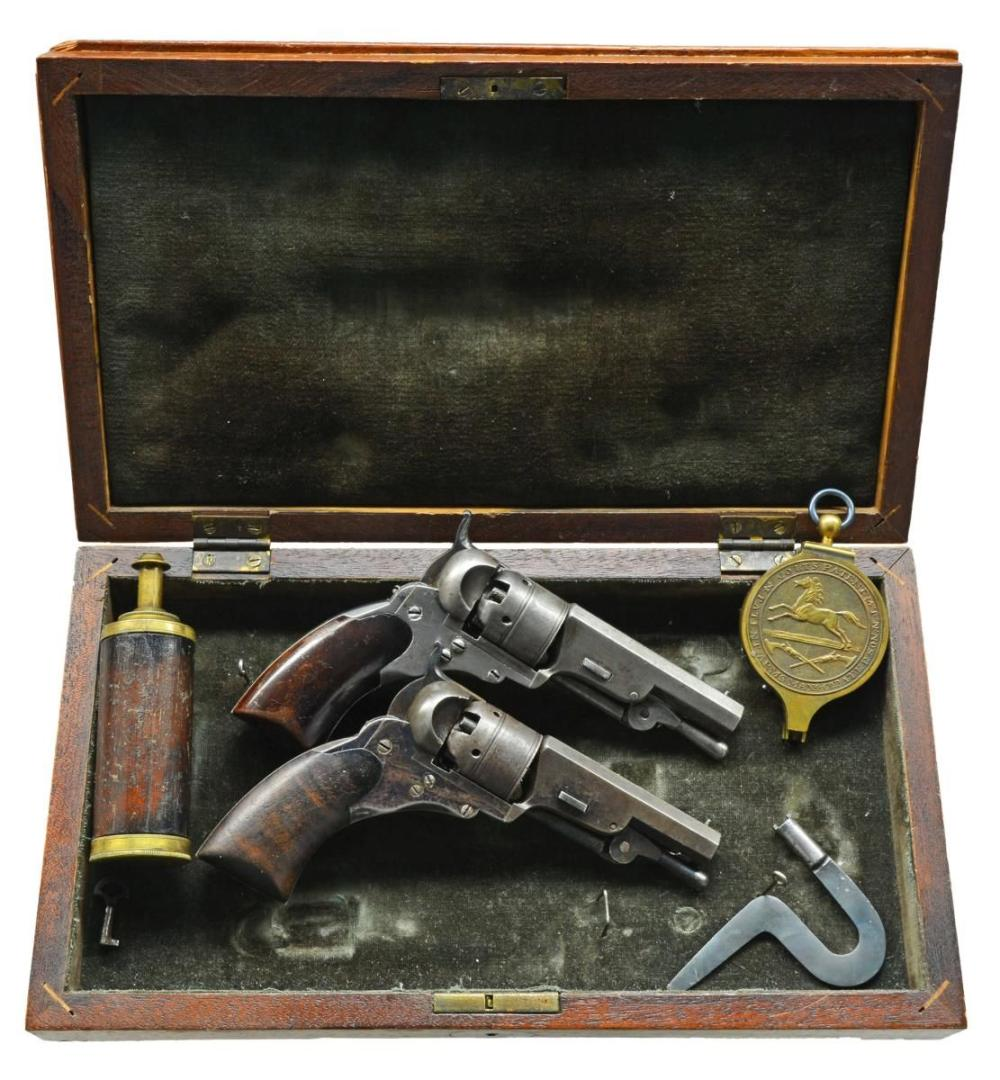 CASED PAIR OF IMPROVED COLT BABY PATERSONS S# 11