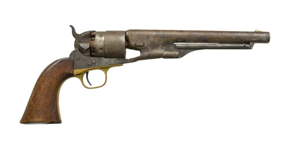COLT MODEL 1860 ARMY REVOLVER WITH FRAME CUT FOR