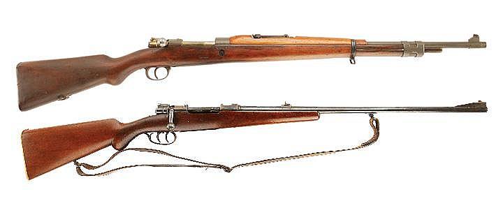 Lot of 2 Rifles. 1) Fabrique Nationale 24/30 Bolt
