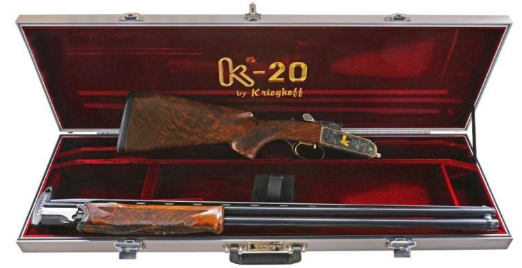 KRIEGHOFF K-20 CLAY TARGET O/U SHOTGUN.