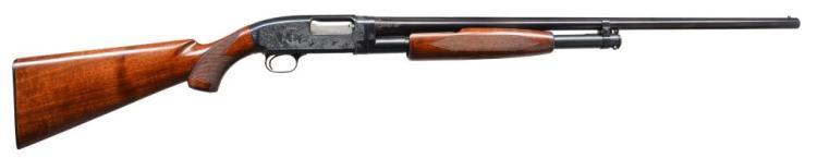 WINCHESTER MODEL 12 CUSTOM ENGRAVED PUMP SHOTGUN.