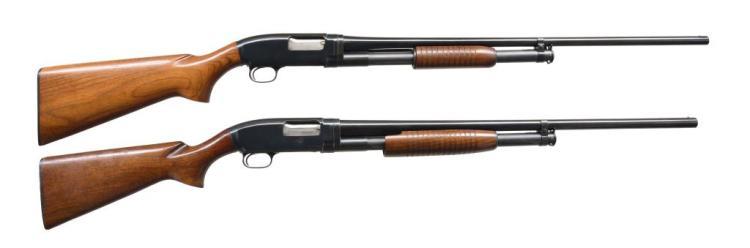 2 WINCHESTER MODEL 12 FIELD GRADE PUMP SHOTGUNS.