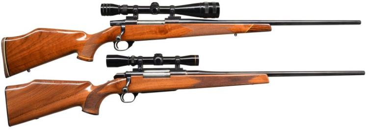 2 BOLT ACTION RIFLES. WEATHERBY & BROWNING.