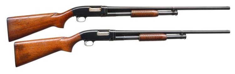 2 WINCHESTER MODEL 12 PUMP SHOTGUNS.