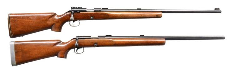 2 WINCHESTER MODEL 52C BOLT ACTION RIFLES.