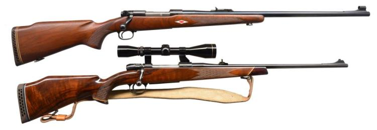 2 bolt action hunting rifles