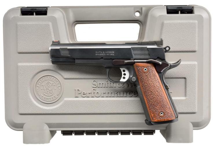 SMITH & WESSON MODEL PC 1911 SEMI AUTO PISTOL.