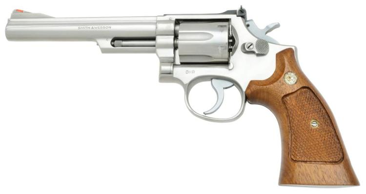 SMITH & WESSON STAINLESS MODEL 68 REVOLVER.