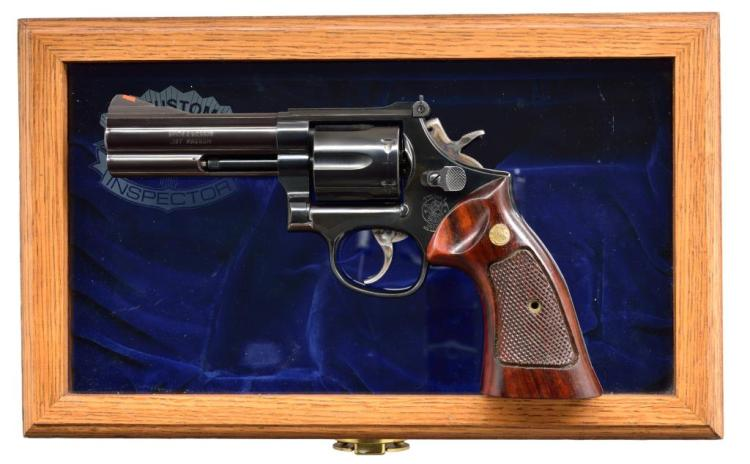 SMITH & WESSON 586-3 U.S.CUSTOMS DA REVOLVER.
