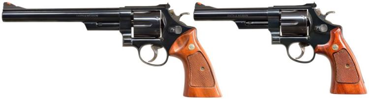 2 SMITH & WESSON MODEL 25-5 REVOLVERS.