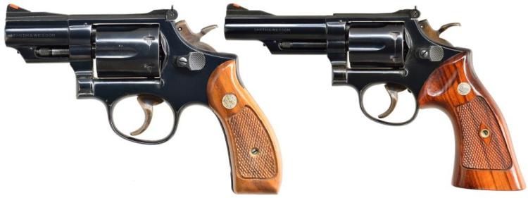 2 SMITH & WESSON MODEL 19-3 REVOLVERS.