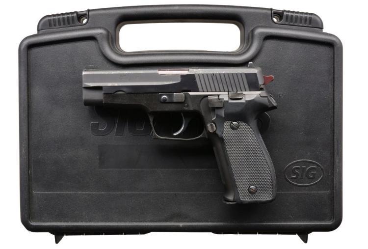 SIG SAUER XM9 TRIALS MODEL P226 SEMI AUTO PISTOL.