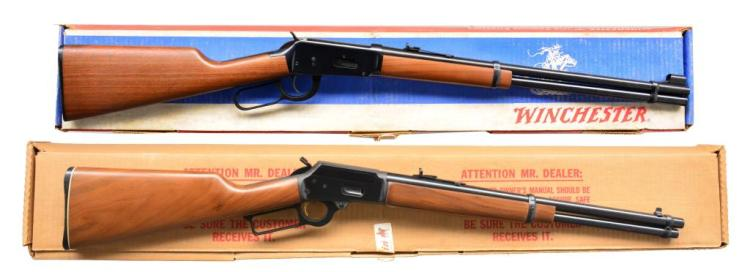 2 MODERN LEVER ACTION CARBINES.