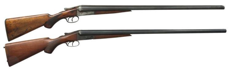 2 A.H. FOX STERLINGWORTH SXS SHOTGUNS.
