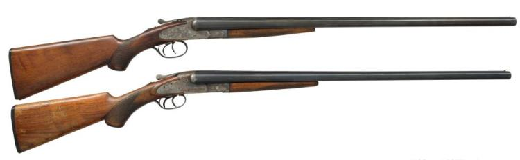 2 SHOTGUNS. L.C. SMITH & BAKER SIDELOCK.