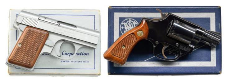 2 AMERICAN MADE HANDGUNS. BAUER & SMITH & WESSON.