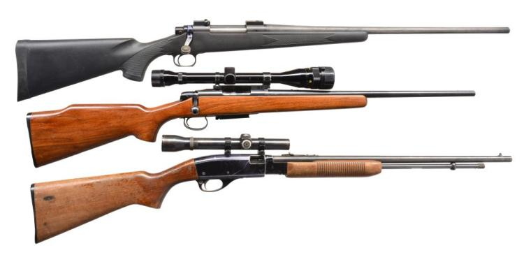 3 REMINGTON RIFLES.