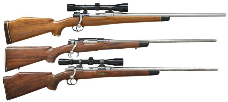 3 MAUSER 98 BASED PROJECT BOLT ACTION RIFLES.