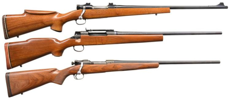 3 U.S. MILITARY BASED SPORTER BOLT ACTION RIFLES.