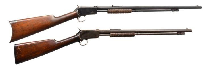 2 WINCHESTER PUMP ACTION RIFLES.