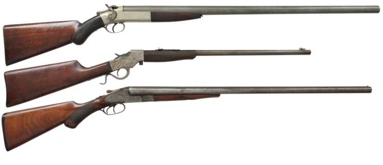 3 AMERICAN LONG GUNS BY FOREHAND & WADSWORTH,