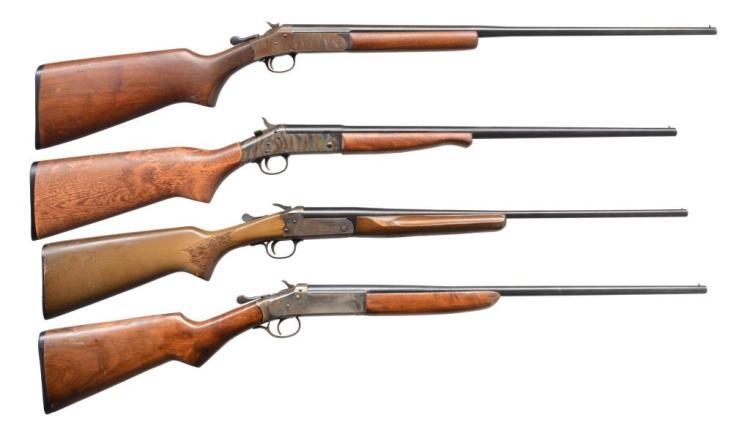 4 AMERICAN 410 SINGLE SHOTGUNS.